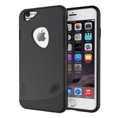 SLiCOO Cobblestone PC + TPU Combination Case for iPhone 6(Black)