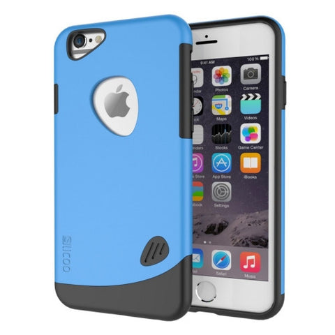 SLiCOO Cobblestone PC + TPU Combination Case for iPhone 6 & 6S(Blue)