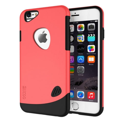 SLiCOO Cobblestone PC + TPU Combination Case for iPhone 6 & 6S(Red)