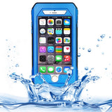 RIYO IP68 Waterproof Shockproof Dustproof Snowproof Protective Case with Holder & Lanyard for iPhone 6(Blue)