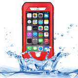 RIYO IP68 Waterproof Shockproof Dustproof Snowproof Protective Case with Holder & Lanyard for iPhone 6(Red)