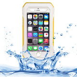 Online Buy RIYO IP68 Waterproof Shockproof Dustproof Snowproof Protective Case with Holder & Lanyard for iPhone 6(White and Yellow) | South Africa | Zasttra.com