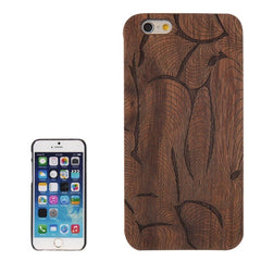 Fly Wind Pattern PC Frame Walnut Wooden Case for iPhone 6 & 6s