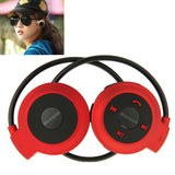 Mini-503 Sport Bluetooth Stereo Headphone Headset Music Earphones for Mobile Phone / PC Support TF Card(Red)