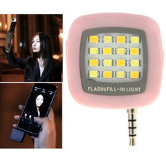 Universal Night Using Selfie Enhancing LED Flash Light for iPhone & Android Smartphones & Tablets & Digital camera(Pink)