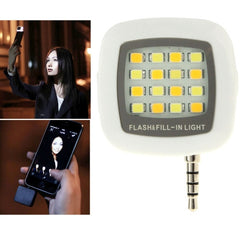 Universal Night Using Selfie Enhancing LED Flash Light for iPhone & Android Smartphones & Tablets & Digital camera(White)
