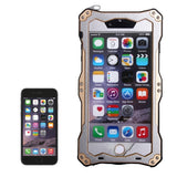 Professional and Powerful Dustproof Shatter-resistant Shockproof IPX7 Waterproof Carbon Fibre Metal Protective Case for iPhone 6 & 6s(Gold)