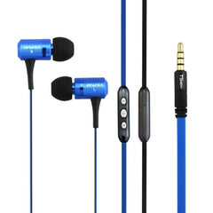 Awei-TS130Vi 3.5mm Plug Noodle Wire Style In-ear Stereo Earphone with Microphone for iPhone 6 & 6 Plus iPhone 5 & 5S & 5C Samsung Galaxy Other Phones(Blue)