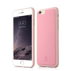 Baseus Comfy Series PU Paste Skin PP Protective Case for iPhone 6 & 6s(Pink)
