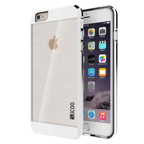Slicoo Brushed Texture Electroplating Transparent Combination Case for iPhone 6 & 6S(Silver)