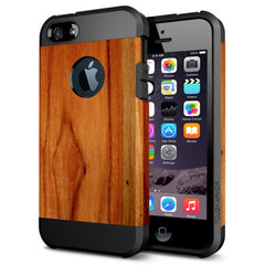 For iPhone 6 Wood Texture Pattern PC + TPU Colorful Armor Hard Case
