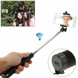 Adjustable Bluetooth Wireless Self-timer Handheld Monopod for Smartphones Extended Length: 80cm Folding Length: 17cm(Black)