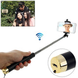 Adjustable Bluetooth Wireless Self-timer Handheld Monopod for Smartphones Extended Length: 80cm Folding Length: 17cm(Gold)