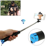 Adjustable Bluetooth Wireless Self-timer Handheld Monopod for Smartphones Extended Length: 80cm Folding Length: 17cm(Blue)