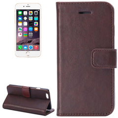 Crazy Horse Texture Horizontal Flip Leather Case with Card Slot and Holder for iPhone 6 Plus & 6S Plus(Coffee)