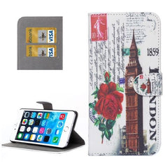 Big Ben Pattern Leather Case with Holder and Card Slots for iPhone 6 Plus & 6S Plus