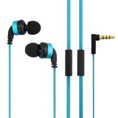 Awei-ES13i 3.5mm Plug Noodle Wired Style In-ear Stereo Earphone with Microphone for iPhone 6 & 6 Plus iPhone 5 & 5S & 5C Samsung Galaxy Other Phones Cable Length: about 1.2m(Blue)