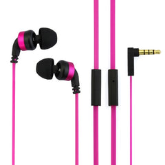 Awei-ES13i 3.5mm Plug Noodle Wired Style In-ear Stereo Earphone with Microphone for iPhone 6 & 6 Plus iPhone 5 & 5S & 5C Samsung Galaxy Other Phones Cable Length: about 1.2m(Magenta)