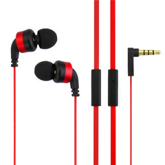 Awei-ES13i 3.5mm Plug Noodle Wired Style In-ear Stereo Earphone with Microphone for iPhone 6 & 6 Plus iPhone 5 & 5S & 5C Samsung Galaxy Other Phones Cable Length: about 1.2m(Red)