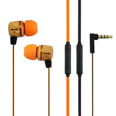 Awei-ES16Hi 3.5mm Plug Wood Style Wired In-ear Stereo Earphone with Microphone for iPhone 6 & 6 Plus iPhone 5 & 5S & 5C Samsung Galaxy Other Phones Cable Length: about 1.2m(Orange)