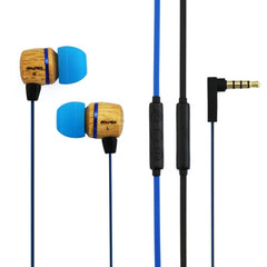 Awei-ES16Hi 3.5mm Plug Wood Style Wired In-ear Stereo Earphone with Microphone for iPhone 6 & 6 Plus iPhone 5 & 5S & 5C Samsung Galaxy Other Phones Cable Length: about 1.2m(Blue)