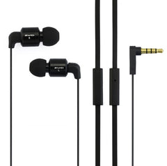 Awei-ES600i 3.5mm Plug Noodle Wired Style In-ear Stereo Earphone with Microphone for iPhone 6 & 6 Plus iPhone 5 & 5S & 5C Samsung Galaxy Other Phones Cable Length: about 1.2m(Black)