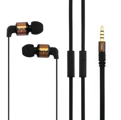 Awei-ES600i 3.5mm Plug Noodle Wired Style In-ear Stereo Earphone with Microphone for iPhone 6 & 6 Plus iPhone 5 & 5S & 5C Samsung Galaxy Other Phones Cable Length: about 1.2m(Gold)