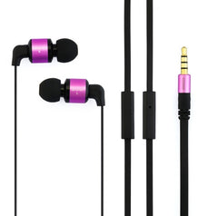 Awei-ES600i 3.5mm Plug Noodle Wired Style In-ear Stereo Earphone with Microphone for iPhone 6 & 6 Plus iPhone 5 & 5S & 5C Samsung Galaxy Other Phones Cable Length: about 1.2m(Purple)