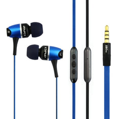 Awei S80vi 3.5mm Plug Noodle Wired Style In-ear Stereo Earphone with Microphone for iPhone 6 & 6 Plus iPhone 5 & 5S & 5C Samsung Galaxy Other Phones Cable Length: about 1.2m(Blue)