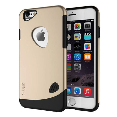 SLiCOO Cobblestone PC + TPU Combination Case for iPhone 6 Plus & 6S Plus(Gold)