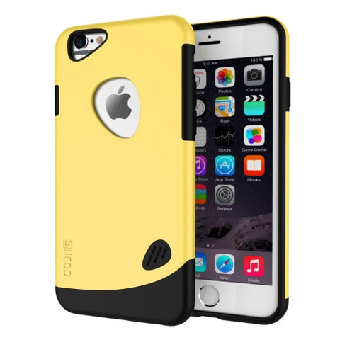 SLiCOO Cobblestone PC + TPU Combination Case for iPhone 6 Plus & 6S Plus(Yellow)