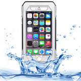 RIYO for iPhone 6 Plus IP68 Waterproof Shockproof Dustproof Snowproof Protective Case with Holder & Lanyard(Silver)