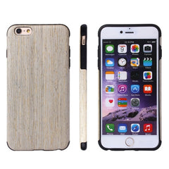 For iPhone 6 Plus & 6s Plus Walnut Wood + PU Material Protective Case