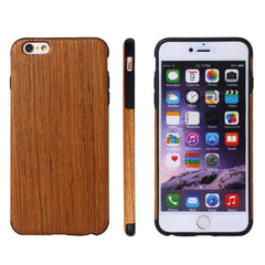 For iPhone 6 Plus & 6s Plus Siam Rose Wood + PU Material Protective Case