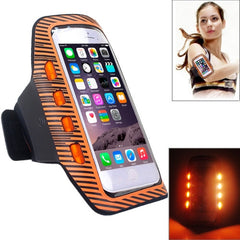 Colorful Sport Armband Case with LED Lighting for iPhone 6 Plus / Samsung Galaxy S7 Edge / Note 5 & 4(Orange)