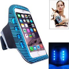 Colorful Sport Armband Case with LED Lighting for iPhone 6 Plus / Samsung Galaxy S7 Edge / Note 5 & 4(Blue)