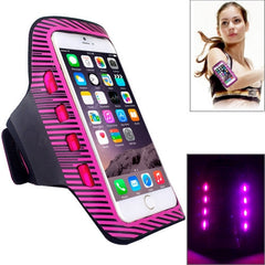 Colorful Sport Armband Case with LED Lighting for iPhone 6 Plus / Samsung Galaxy S7 Edge / Note 5 & 4(Magenta)