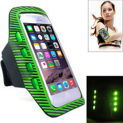 Colorful Sport Armband Case with LED Lighting for iPhone 6 Plus / Samsung Galaxy S7 Edge / Note 5 & 4(Green)