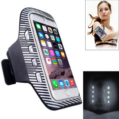 Colorful Sport Armband Case with LED Lighting for iPhone 6 Plus / Samsung Galaxy S7 Edge / Note 5 & 4(White)