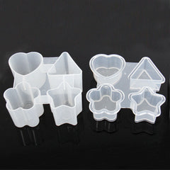 Geometry Pattern 4-Grid Ice Cube Tray