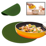 Multipurpose Heat-resistant Anti-skidding Silicone Heat Insulation Mat (Deep Green)