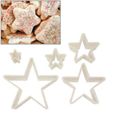 5 PCS Pentagram Shape Food Processing Machine for Soft Biscuit Machine / Cake Biscuit Moulds