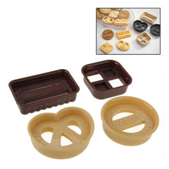 Classic Cookies Shaped Biscuit Cookie Cutter Mold Set (4pcs in one packaging the price is for 4pcs)