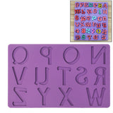 Soft Silicone English Letters Style DIY Cake / Fondant / Sugar Paste Mold / Ice Cube Trays (Random Color Delivery)