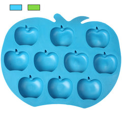 Creative Apple Shape 10-Grid Ice Cube Tray (Random Color Delivery)