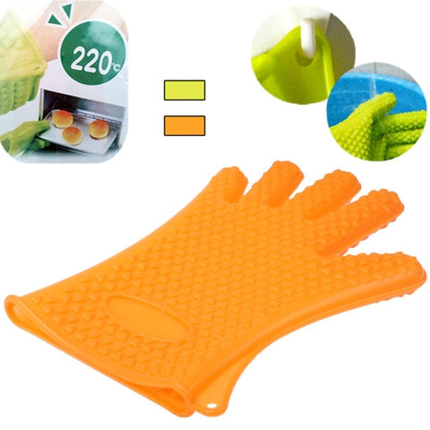 Non-toxic Heat Resistance Silicone Glove for Kitchen Use (Random Color Delivery)