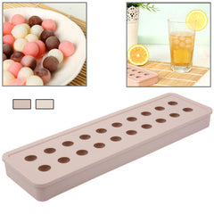 Creative Ball Shape 20-Grid Silicone Ice Ball Tray (Random Color Delivery)