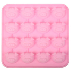 Creative Pig Head Shape 16-Grid Ice Cube Tray
