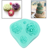 Soft Silicone Rose Style DIY Cupcake / Cake / Bread / Jelly / Chocolate / Pizza / Sugar Paste Mold