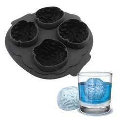 Silicone Brain Freeze Shaped Ice Cube Tray (Random Color Delivery)